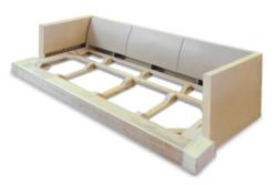 Estructura de madera maciza.