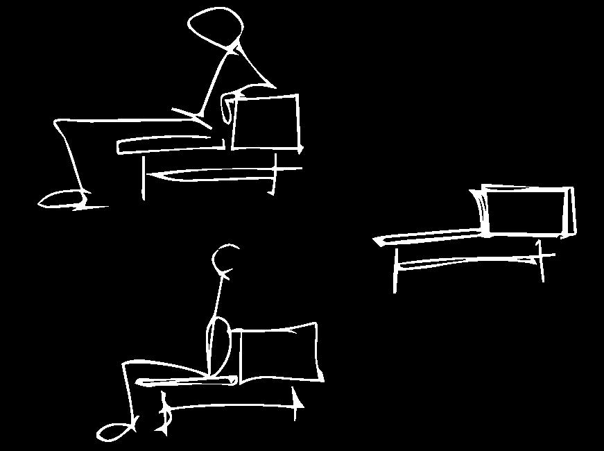 dibujos diseño sofás divani