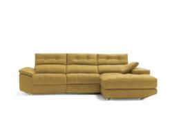 sofa chaiselong amarillo modelo lotus divani