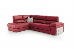 sofa chaiselong modelo irati divani rojo