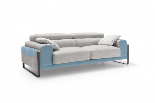 sofa gris azul sharon divani