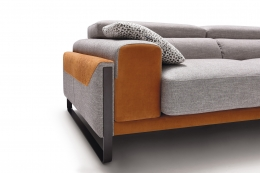 sofa gris marron sharon divani