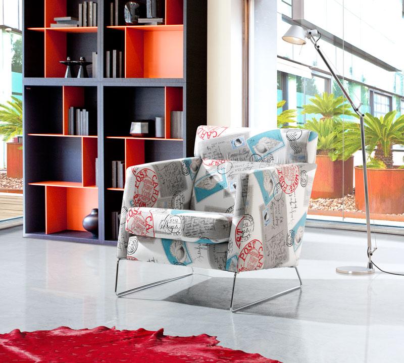 sillón estampado